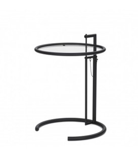 Adjustable Table E 1027 black Eileen Gray Classicon