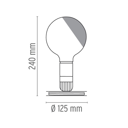 Lampadina LED Achille Castiglioni Flos