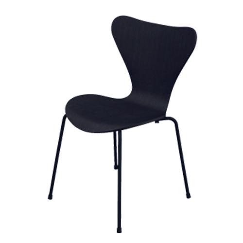 3107 serie 7 arne jacobsen fritz hansen schwarz. Black Bedroom Furniture Sets. Home Design Ideas