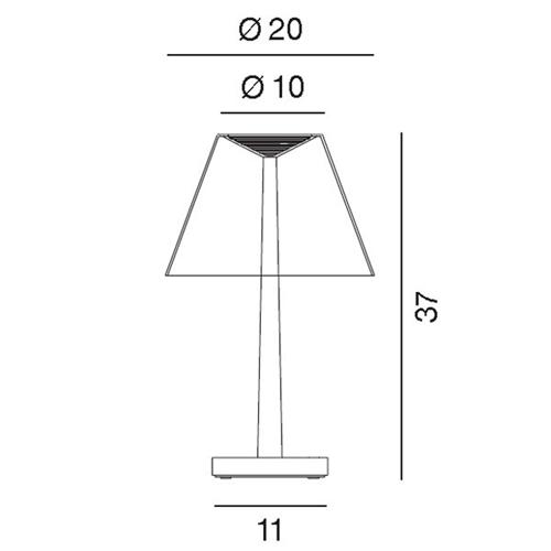 Dina plus tischleuchte rotaliana - Lampade da tavolo a batteria ricaricabile ...