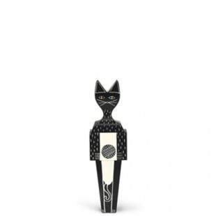 Cat and Dog Wooden Doll black beauty Vitra
